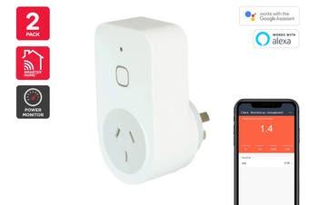 Kogan SmarterHome™ Smart Plug With Energy Meter - Pack of 2