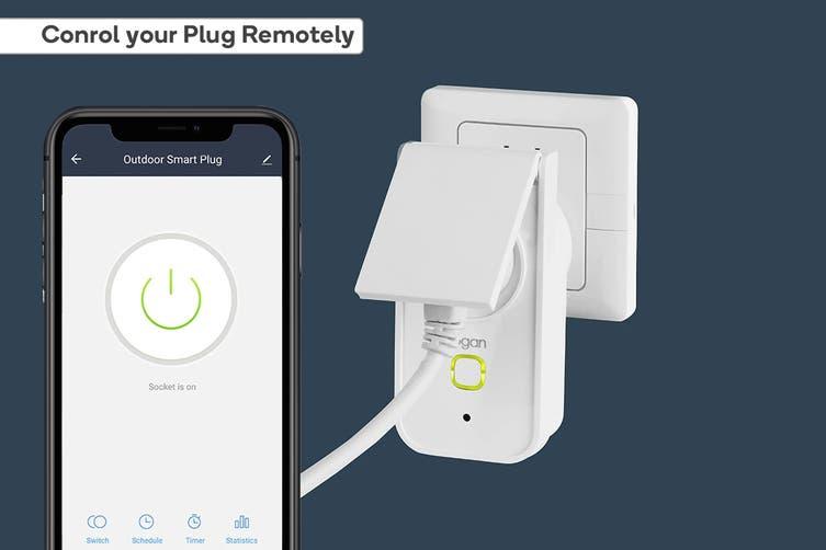 Kogan SmarterHome™ IP44 Outdoor Smart Plug With Energy Meter