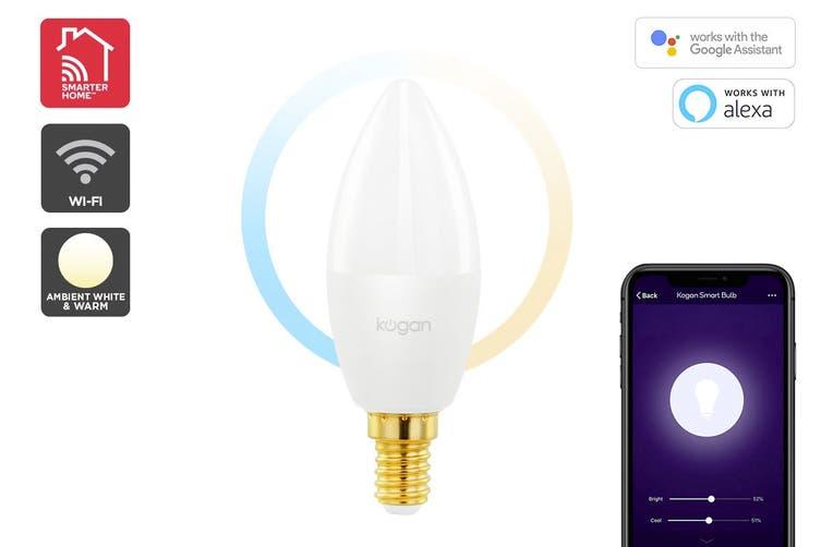 Kogan SmarterHome™ Cool & Warm White Smart LED Bulb (E14)