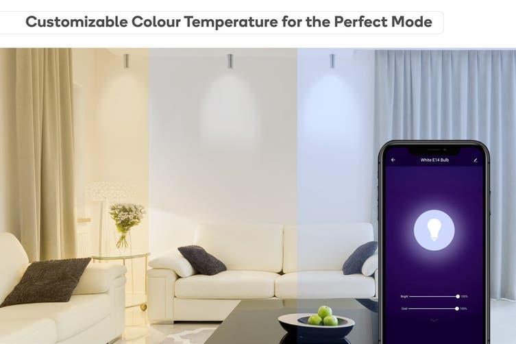 Kogan SmarterHome™ Cool & Warm White Smart LED Bulb (E14) - Set of 2