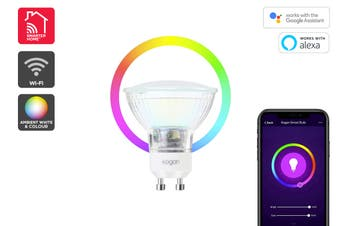 Kogan SmarterHome™ Ambient RGBW Smart LED Spotlight (GU10)