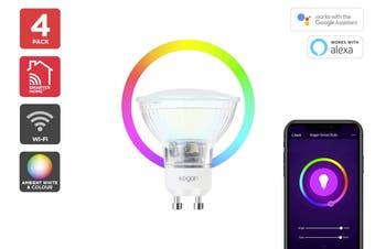 Kogan SmarterHome™ Ambient RGBW Smart LED Spotlight (GU10) - Set of 4