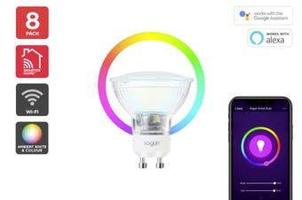 Kogan SmarterHome™ Ambient RGBW Smart LED Spotlight (GU10) - Set of 8