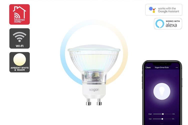 Kogan SmarterHome™ Cool & Warm White Smart LED Spotlight (GU10)