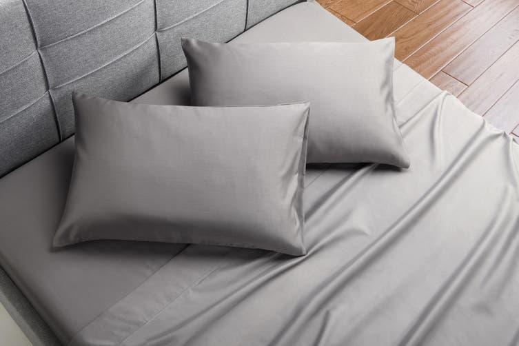 Trafalgar Hotel Quality 1200TC Cotton Rich Bed Sheet Set (Double, Grey)