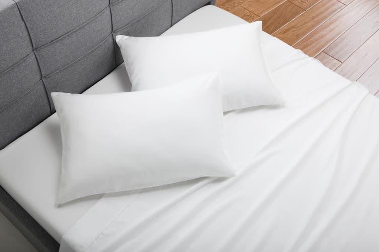 Trafalgar Hotel Quality 1200TC Cotton Rich Bed Sheet Set (Double, White)