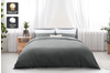 Trafalgar Hotel Quality 1200TC Cotton Rich Quilt Cover Set (King, Grey)