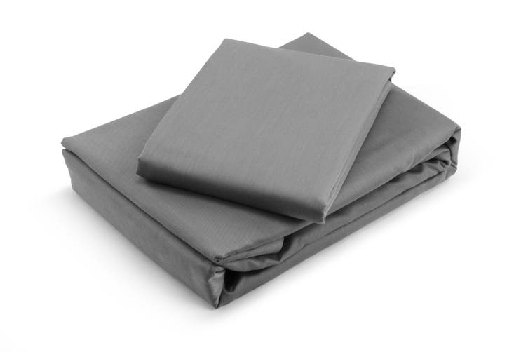 Trafalgar Hotel Quality 1200TC Cotton Rich Quilt Cover Set (Queen, Grey)