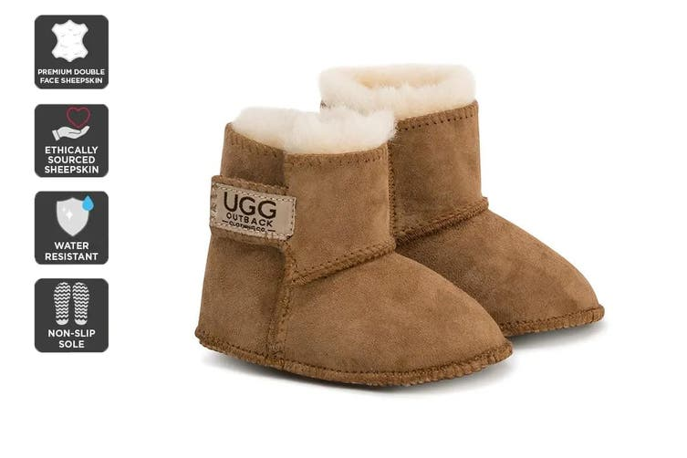 Outback Ugg Boots Baby Classic - Premium Double Face Sheepskin (Chestnut, Size XL)