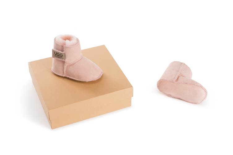 Outback Ugg Boots Baby Classic - Premium Double Face Sheepskin (Pink, Size XL)