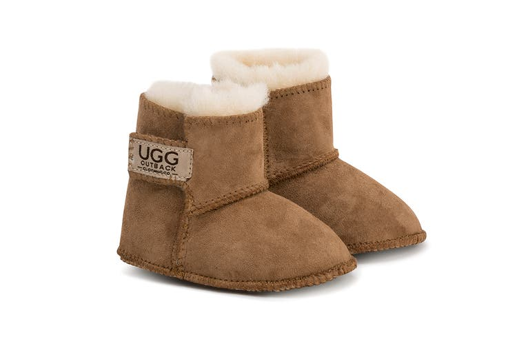 Outback Ugg Boots Baby Classic - Premium Double Face Sheepskin (Chestnut, Size L)