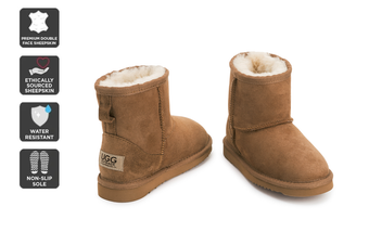 Outback Ugg Kids Classic - Premium Double Face Sheepskin (Chestnut)