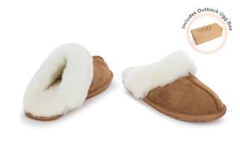 Outback Ugg Slippers - Premium Sheepskin (Chestnut)