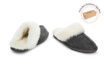 Outback Ugg Slippers - Premium Sheepskin (Grey)