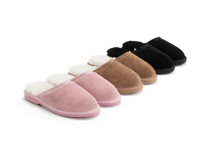 Outback Ugg Slippers Barwon - Premium Sheepskin (Pink, Size 6M / 7W US)
