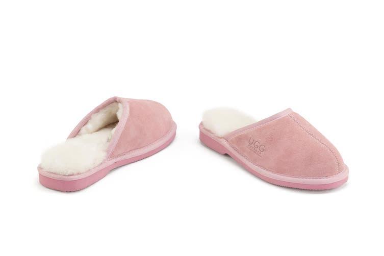 Outback Ugg Slippers Barwon - Premium Sheepskin (Pink, Size 8M / 9W US)