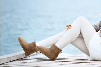 Outback Ugg Boots Mini Classic - Premium Double Face Sheepskin (Chestnut)