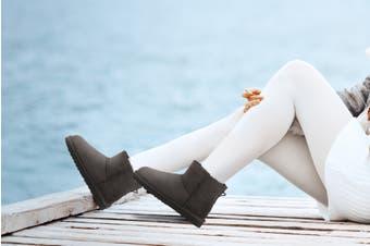 Outback Ugg Boots Mini Classic - Premium Double Face Sheepskin (Chocolate)