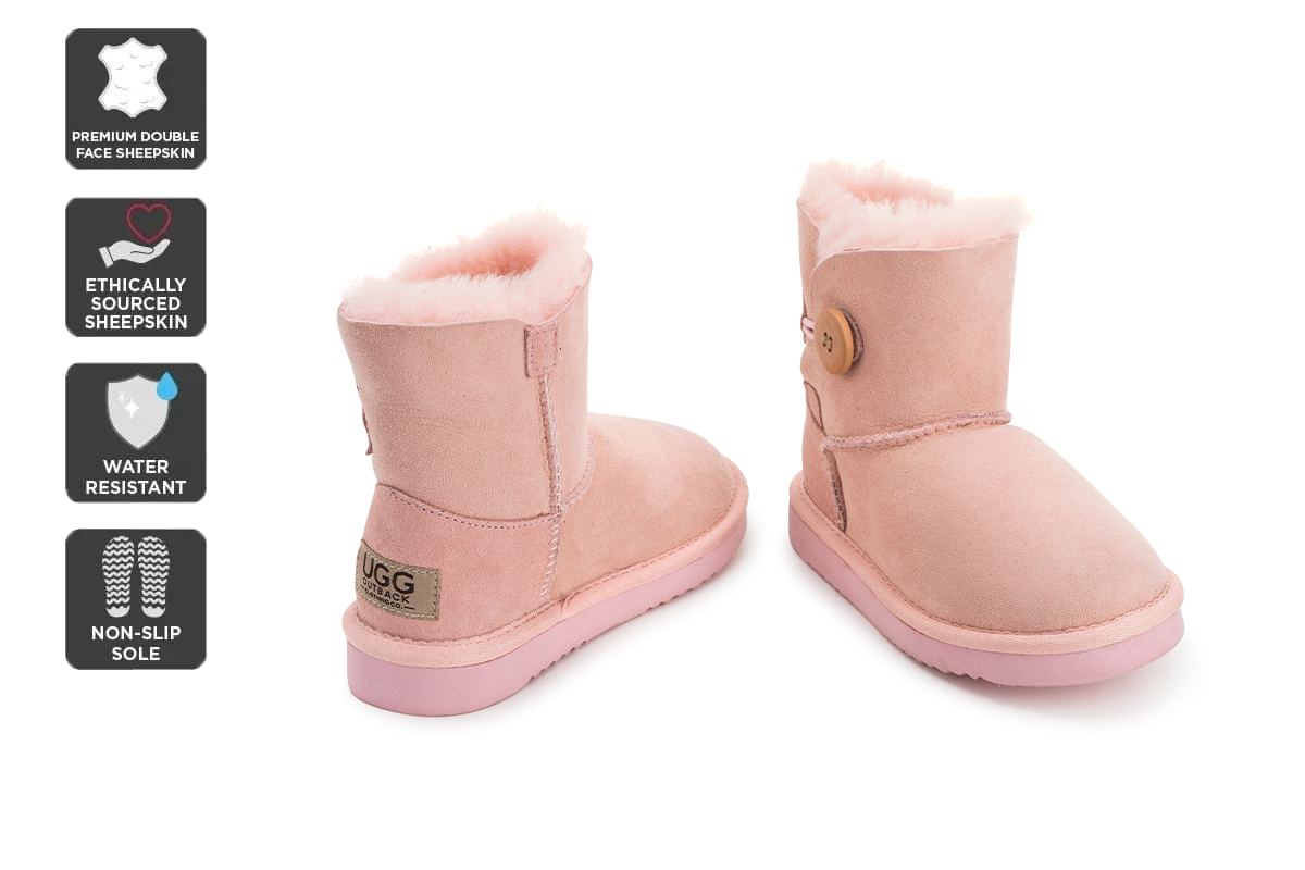 Outback Ugg Boots Kids Button