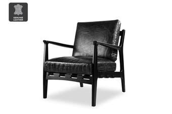 Matt Blatt United Strangers At Ease Armchair (Black, Easy Ride Black Leather)