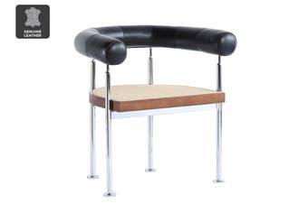 Matt Blatt United Strangers Grafton Chair (Midnight Black Leather)