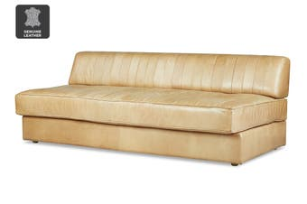 Matt Blatt United Strangers Slab Sofa Bed (Texan Light Brown Leather)
