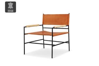 Matt Blatt United Strangers New Jack Occasional Chair (Chestnut Brown Vege Tan Leather)