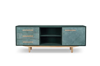 Matt Blatt United Strangers Oslo Credenza (Seattle Dark Green Leather)