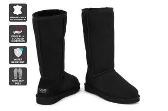 Outback Ugg Boots Long Classic - Premium Sheepskin (Black)