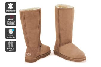 Outback Ugg Boots Long Classic - Premium Sheepskin (Chestnut)