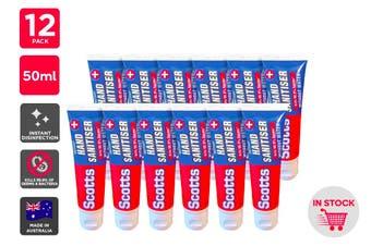 Scotts Instant Hand Sanitiser Made in Australia (50ml) - 12 Pack