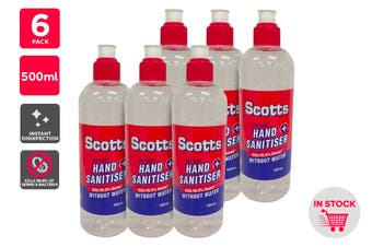 Scotts Instant Hand Sanitiser (500ml) - 6 Pack