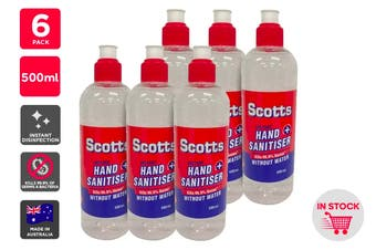 Scotts Instant Hand Sanitiser Made in Australia (500ml) - 6 Pack