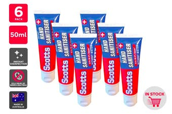 Scotts Instant Hand Sanitiser Made in Australia (50ml) - 6 Pack