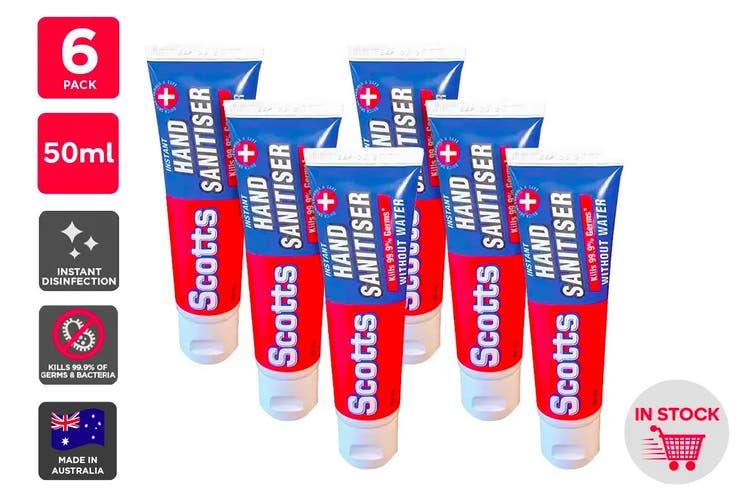 Scotts Instant Hand Sanitiser Made in Australia (50ml) - 6 Pack