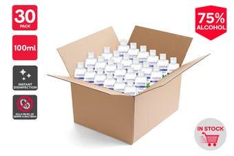 30 x 75% Alcohol Instant Hand Sanitiser (100ml) - (Value Pack)