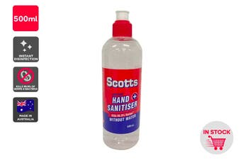 Scotts Instant Hand Sanitiser Made in Australia (500ml)
