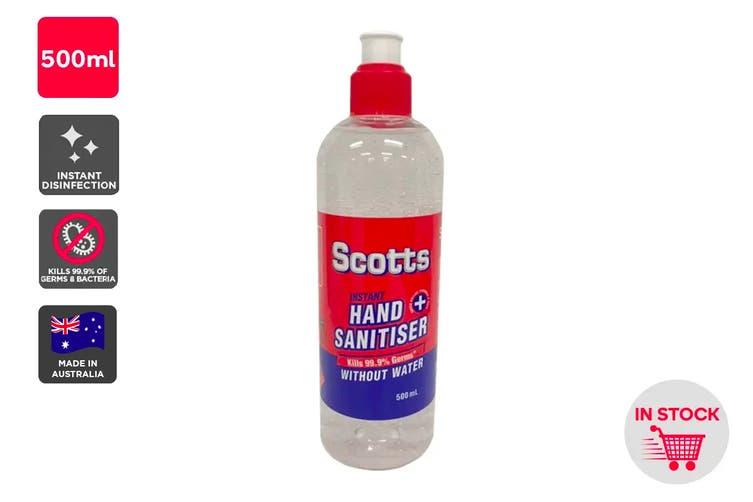 Scotts Instant Hand Sanitiser Made in Australia (500ml)