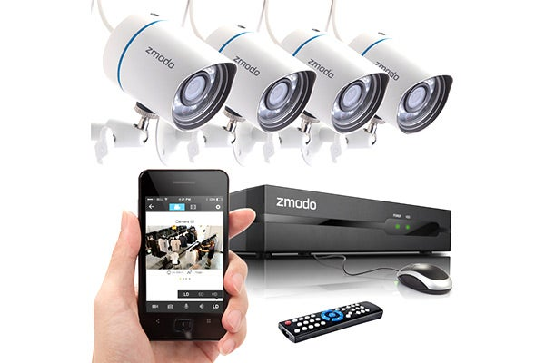 Home Security - Zmodo 4 Camera All-in-One sPoE NVR Security System