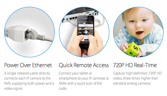Zmodo 4 Camera All-in-One sPoE NVR Security System functions overview