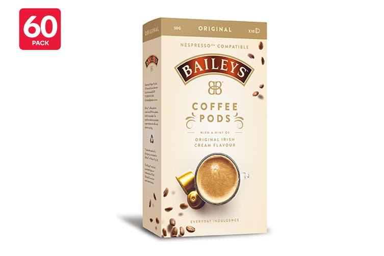 60 Pack Baileys Original Nespresso Compatible Coffee Pods