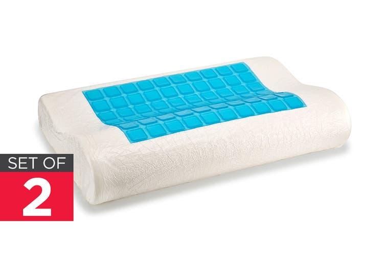 Royal Comfort Set of 2 GelTech Memory Foam Pillow