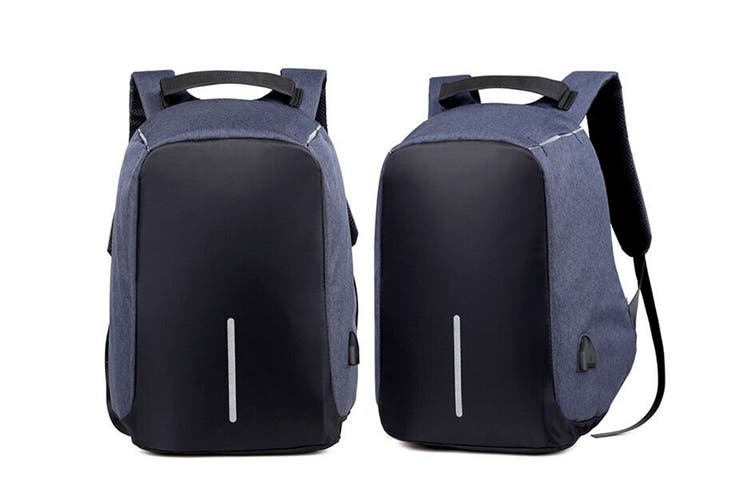 Milano Anti Theft Backpack with USB Port (Blue)