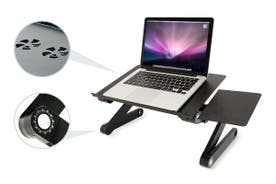 Kogan Adjustable Laptop and Tablet Stand with Cooling Fan and Mouse Pad