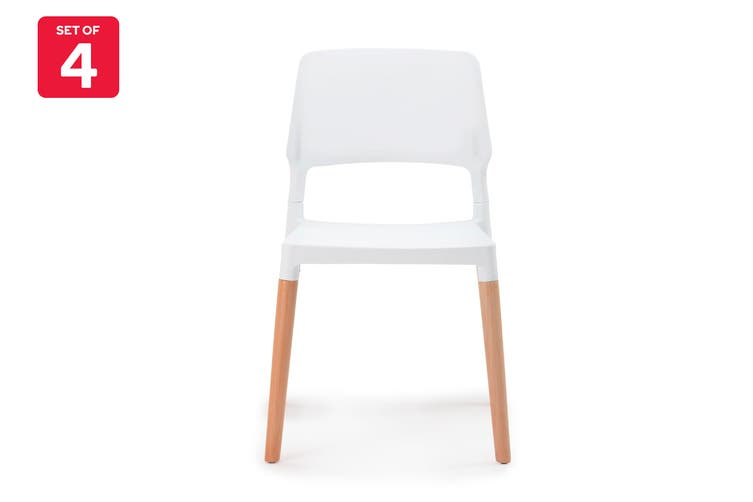 Shangri-La Set of 4 Dining Chairs - Belloch Replica (White)