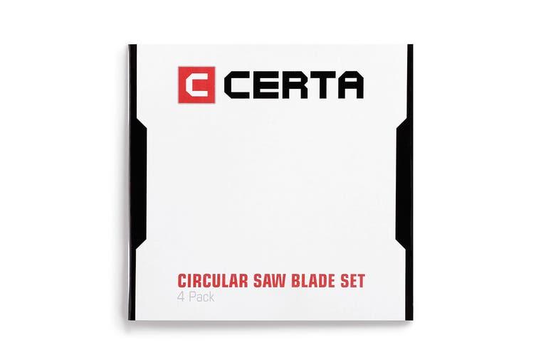 Certa 4 Pack Circular Saw Blade Set