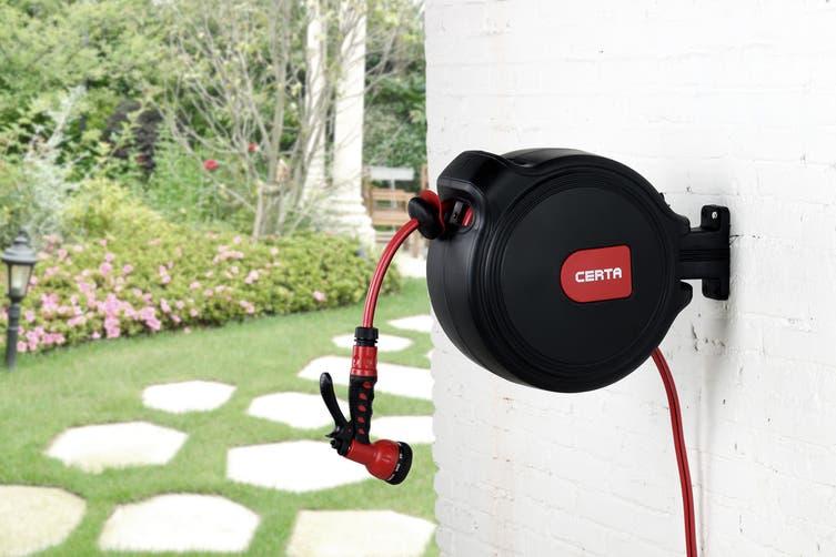 Certa 20m Retractable Garden Hose Reel