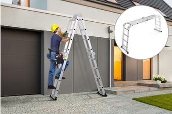 Certa 4.7m Multipurpose Aluminium Foldable Ladder with Standing Platforms