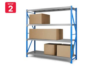 Set of 2 Certa Premium Steel Storage Shelves