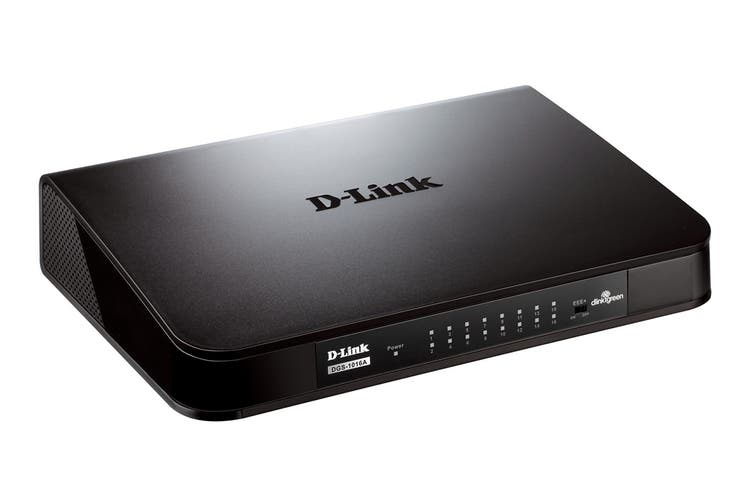 D-Link 16-Port Gigabit Desktop Switch (DGS-1016A)